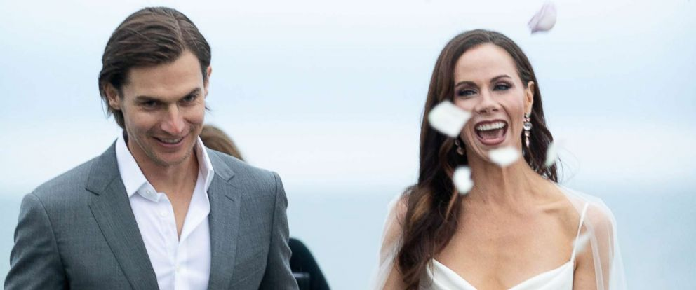PHOTO: Barbara Pierce Bush, right, married Craig Louis Coyne in a private family ceremony at Walker's Point in Kennebunkport, Maine, Oct. 7, 2018.