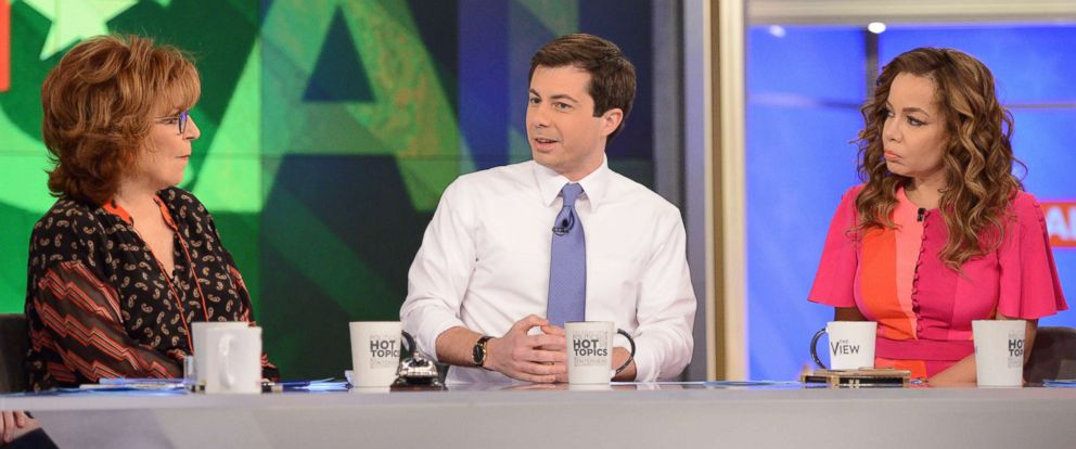 "PHOTO: Mayor of South Bend, Ind., and and democratic presidential candidate Pete Buttigieg visits ABCs ""The View"" on Jan. 31, 2019."