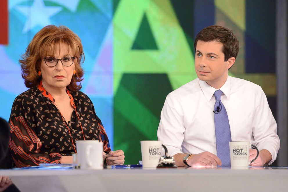 PHOTO: Mayor of South Bend, Indiana and and democratic presidential candidate Pete Buttigieg visits ABCs The View on Jan. 31, 2019.