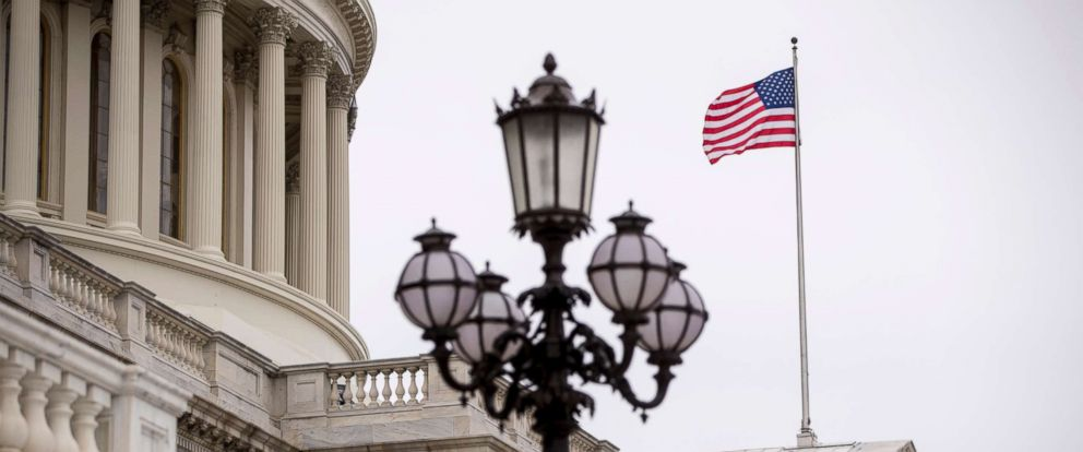 PHOTO: A flag flies from the U.S. Capitol Building in Washington, Friday, Feb. 22, 2019.