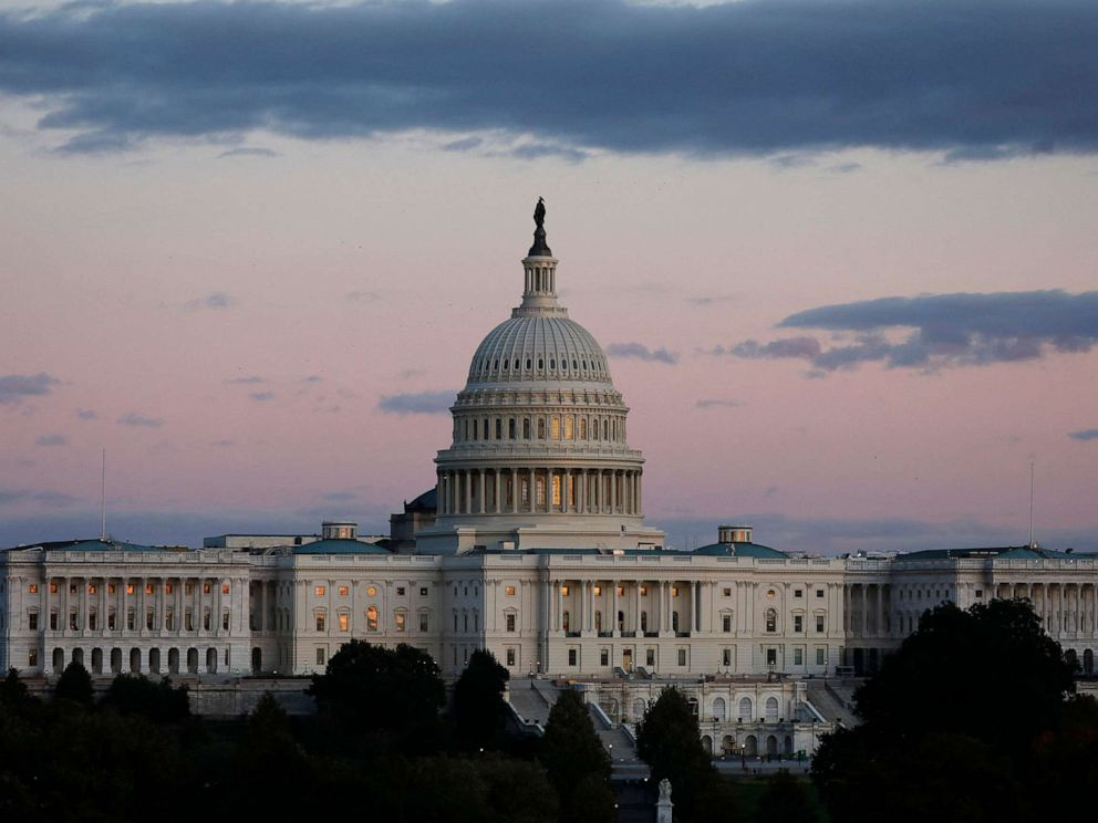 PHOTO: U.S. Capitol building is seen during a sunset in Washington on Oct. 17, 2019.