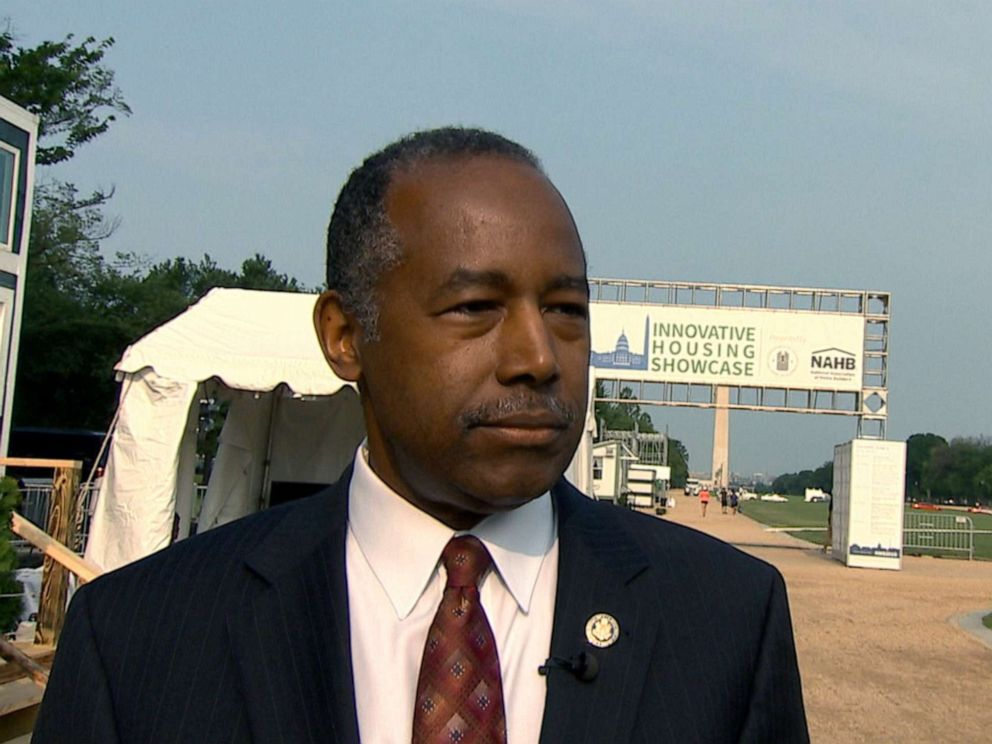 PHOTO: Housing Secretary Ben Carson speaks with ABC News, June 5, 2019.