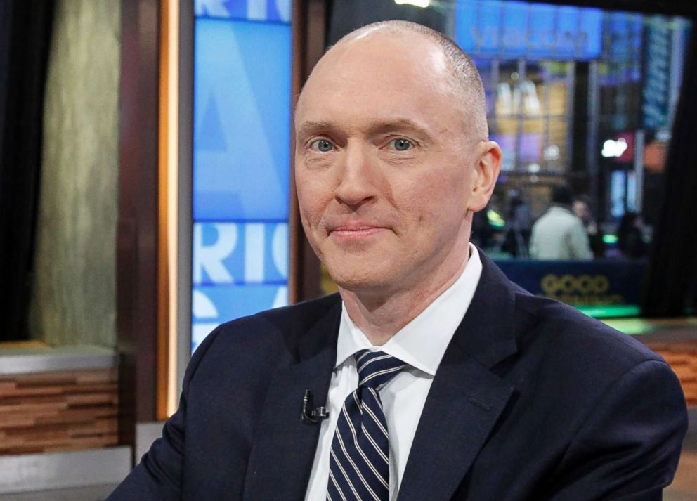 PHOTO: Carter Page, former foreign-policy adviser to Donald Trumps 2016 Presidential campaign, appears on ABCs Good Morning America, Feb. 6, 2018.