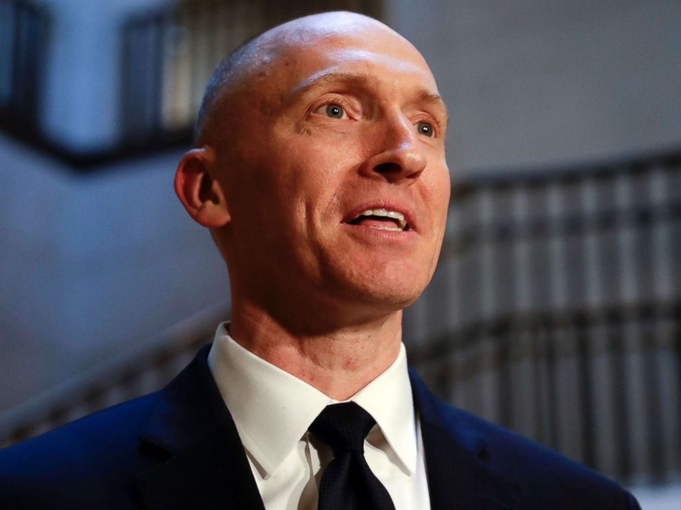 PHOTO: Carter Page, a foreign policy adviser to Donald Trumps 2016 presidential campaign, speaks with reporters, Nov. 2, 2017, on Capitol Hill in Washington.