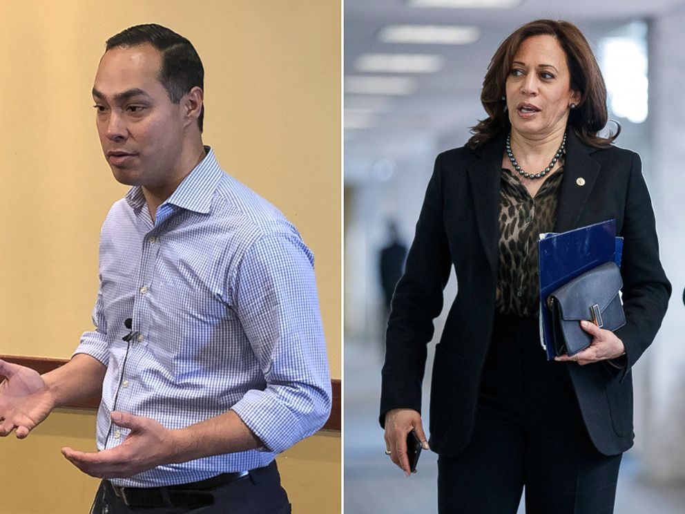 PHOTO: Julian Castro, left, and Kamala Harris.