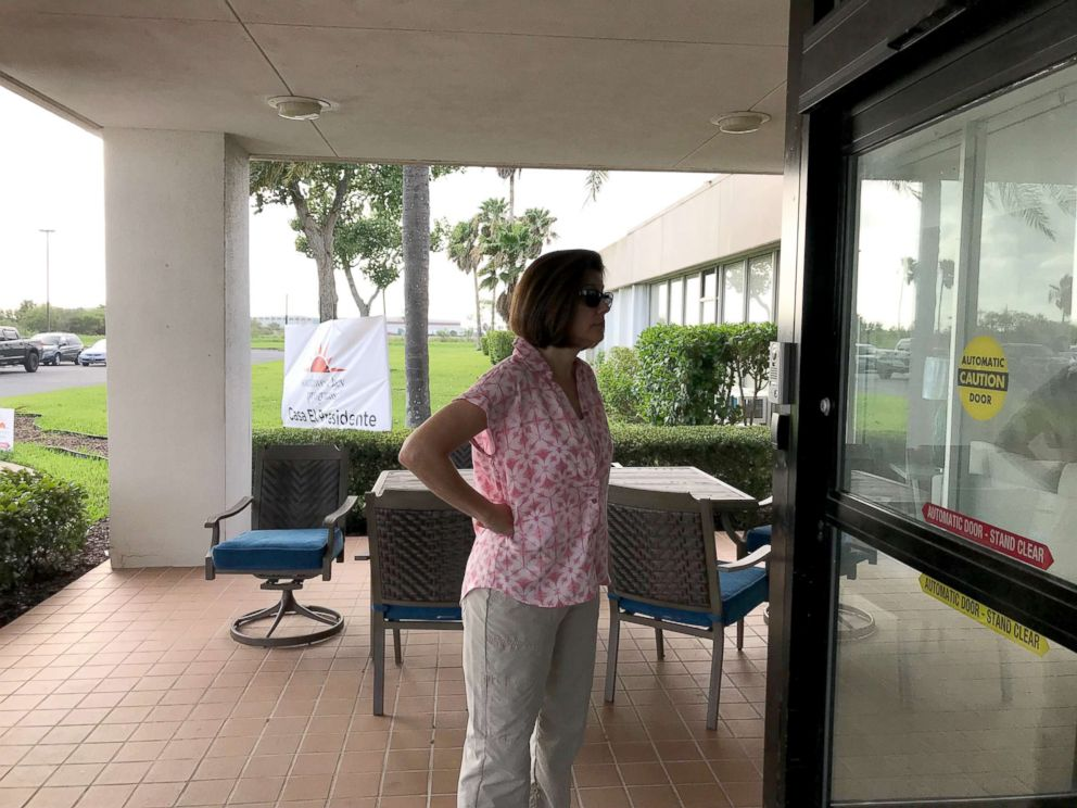 PHOTO: Sen. Catherine Cortez Masto is turned away from one child detention center on the Mexican border in Texas, June 26, 2018, but gets access to two others.
