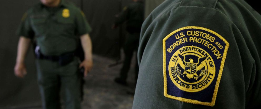 PHOTO: U.S. Border Patrol agents are seen during a tour of U.S. Customs and Border Protection (CBP) temporary holding facilities in El Paso, Texas, May 2, 2019.