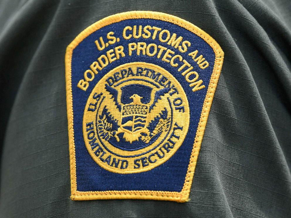 PHOTO: A U.S. Customs and Border Protection patch is seen on the arm of a U.S. Border Patrol agent in Mission, Texas, July 1, 2019.