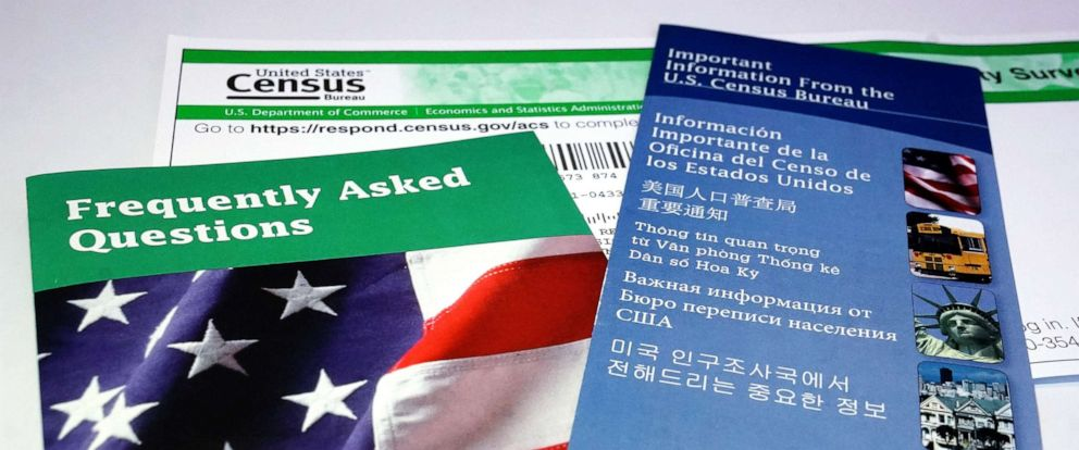 PHOTO:U.S. Census pamphlets and paperwork are pictured in this photo illustration New York, July 15, 2019.
