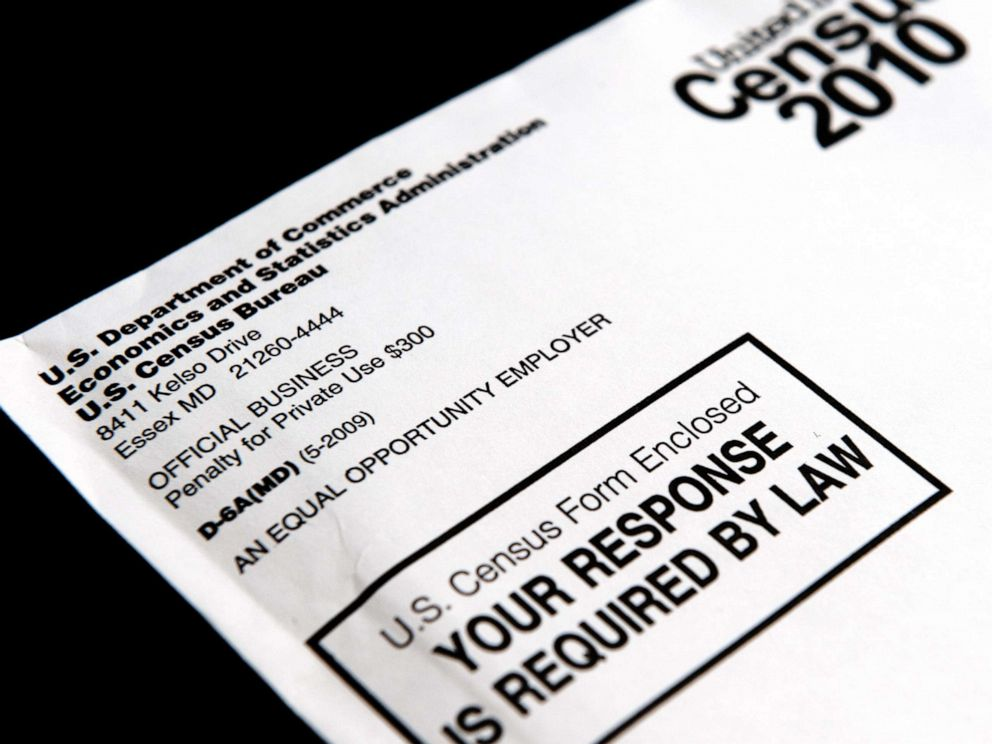 PHOTO: The official U.S. Census form is pictured on March 18, 2010 in Washington, D.C.