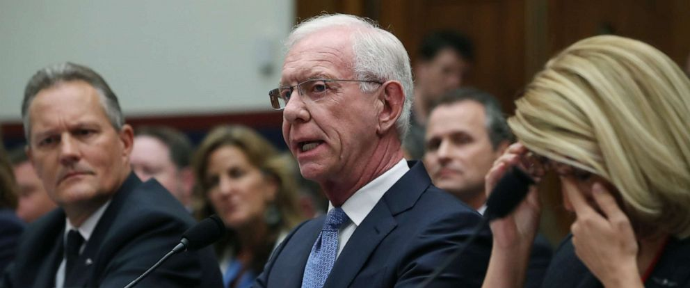 """PHOTO: Retired airline Captain Chesley """"Sully"""" Sullenberger, testifies during a House Transportation and Infrastructure Committee hearing on June 19, 2019, in Washington."""