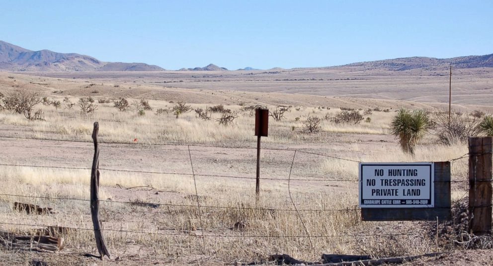 PHOTO: A 2012 photo taken near Cloverdale in New Mexicos Bootheel region shows a gated part of the Diamond A Ranch and is 77 miles south of Lordsburg, N.M., the nearest U.S. Border Patrol station.