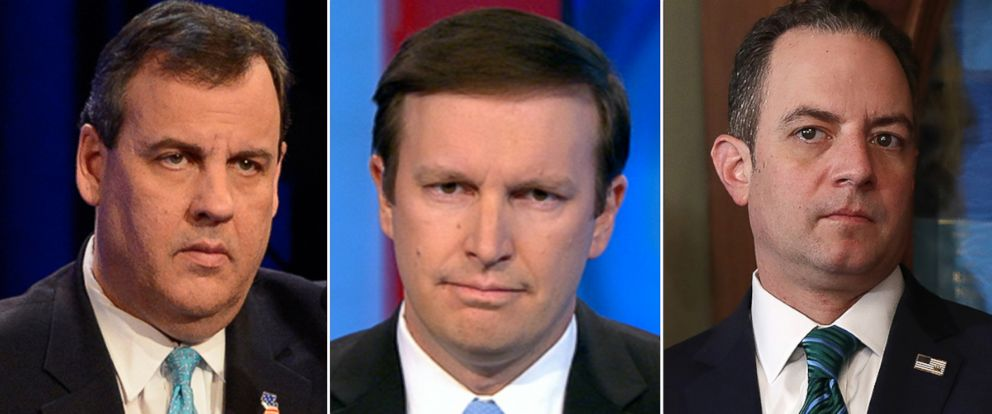 "PHOTO: Chris Christie, Chris Murphy and Reince Priebus to appear on ""This Week."""