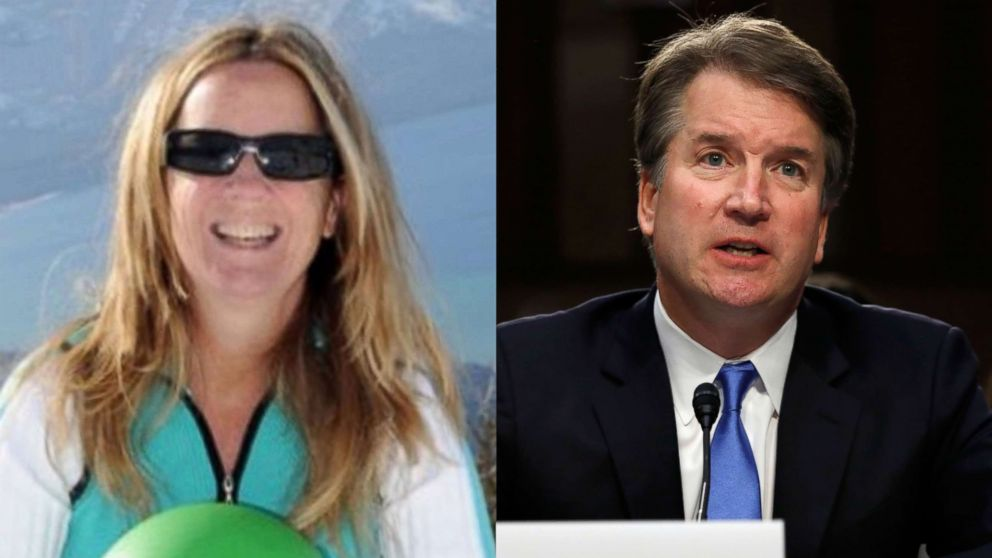 Professor Christine Blasey Ford is seen in an undated photo posted to ResearchGate and Supreme Court Justice nominee Brett Kavanaugh appears at a confirmation hearing in Washington, Sept. 5, 2018.