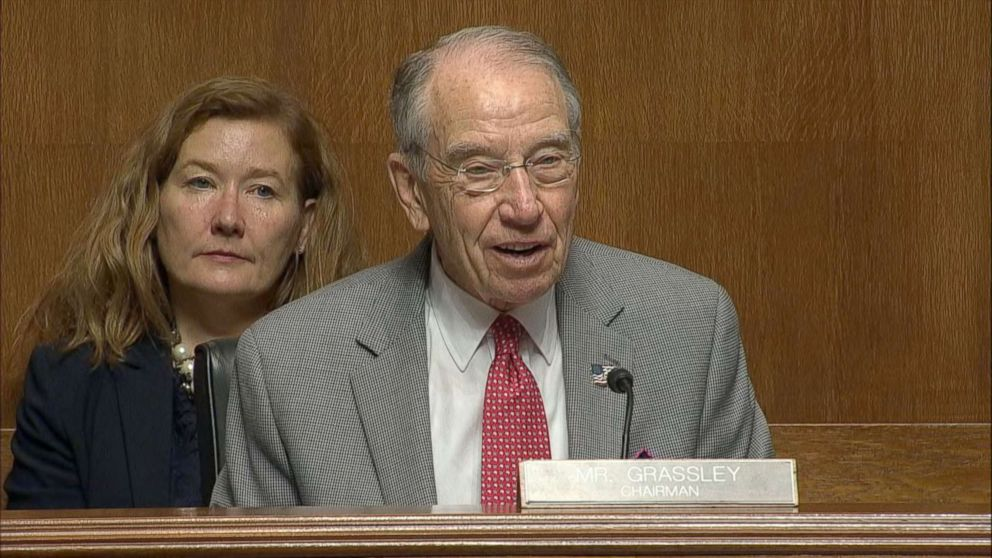 Chuck Grassley during this Senate Judiciary Committee hearing on Capitol Hill, June 26, 2018, in Washington.