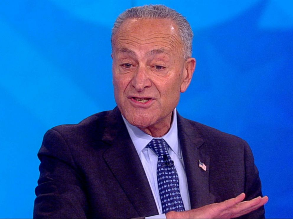 PHOTO: Chuck Schumer appears on The View, Sept 17, 2018.
