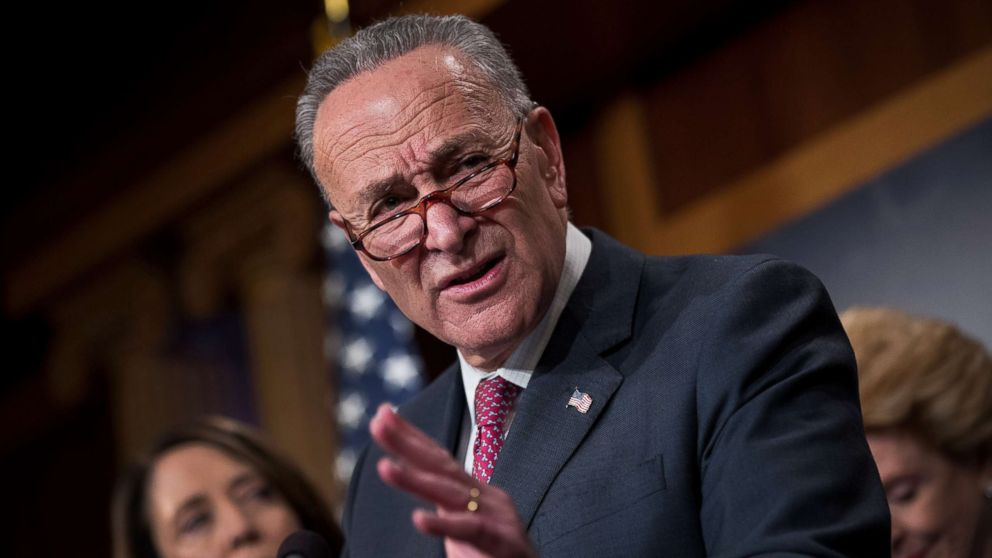 Senate Minority Leader Chuck Schumer speaks during a press conference to discuss their proposals for raising the 401(k) pre-tax contribution limits, Oct. 31, 2017 in Washington, D.C.