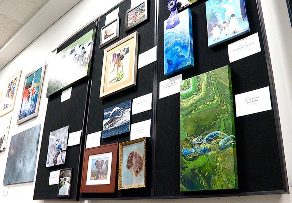 PHOTO: For two decades, the Central Intelligence Agency has quietly hosted an annual art show at its headquarters, featuring works by the agencys officers and analysts who publicly share rare personal details about their lives.
