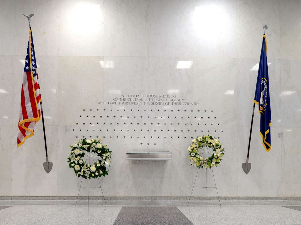 PHOTO: The CIA Memorial Wall in the lobby of the CIA Headquarters has stars signifying the agents and contractors killed in the line of duty working for the CIA.