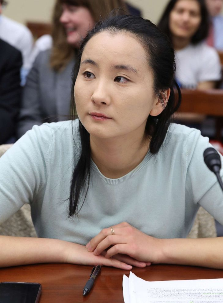 PHOTO: Melody Zhang, Climate Justice Campaign Coordinator, speaks at the first hearing of the House Select Committee on the Climate Crisis, on Capitol Hill April 4, 2019, in Washington.