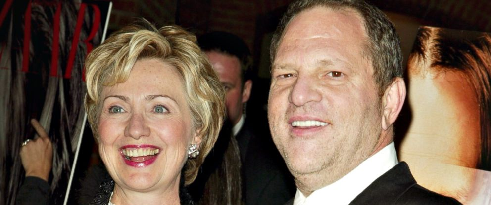 """PHOTO: Hillary Clinton and Harvey Weinstein at the """"Finding Neverland"""" film premiere in New York City, Oct. 25, 2004."""