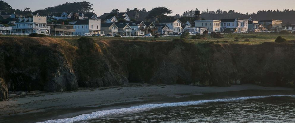 PHOTO: This former logging community is built on a bluff along a rustic and remote stretch of the North Coast as viewed on Sept. 9, 2017, in Mendocino, Calif.