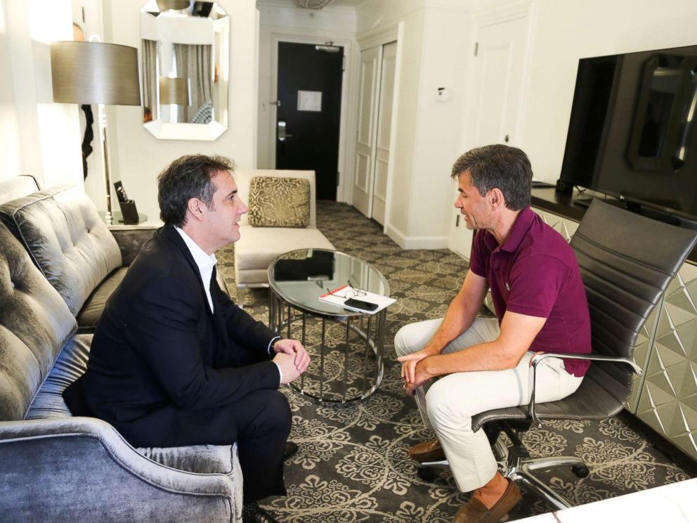 PHOTO: ABC News George Stephanopoulos interviewing Michael Cohen, who was formerly an attorney for President Donald Trump.