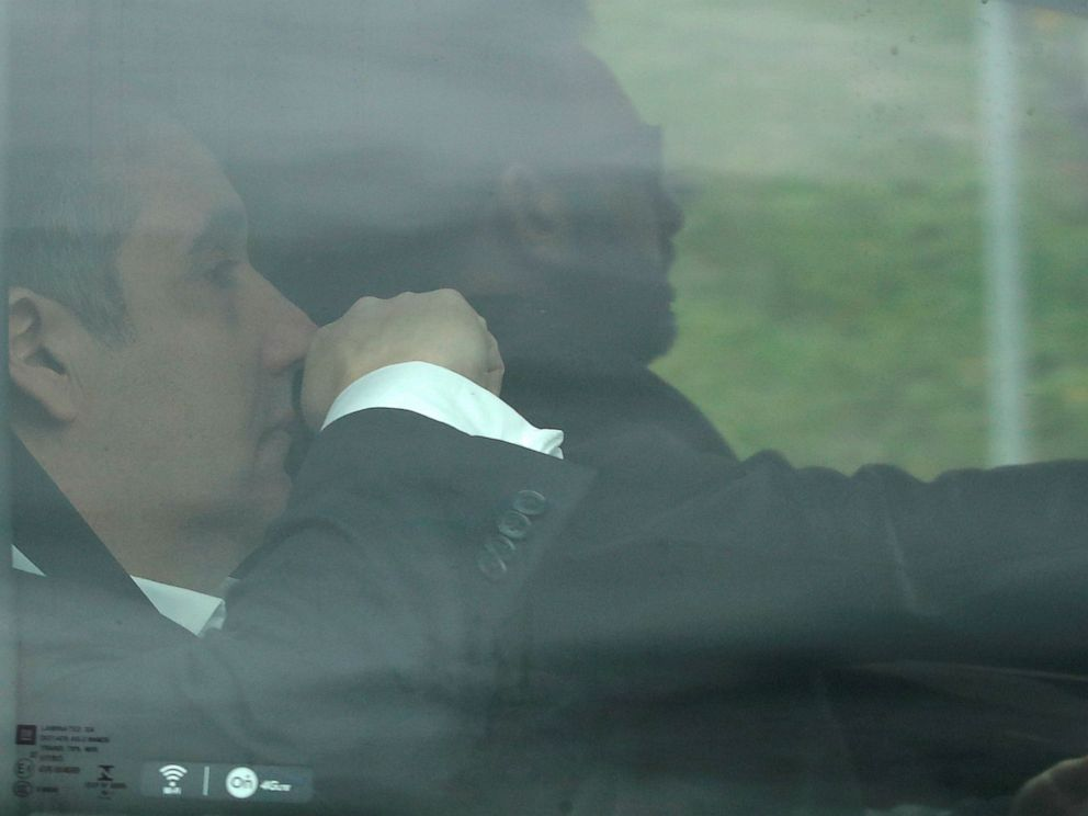 PHOTO: Michael Cohen, President Donald Trumps former lawyer, arrives at the Federal Correctional Institution in�Otisville, N.Y., May 6, 2019.