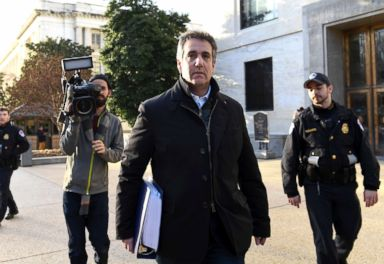 PHOTO: Michael Cohen, President Donald Trumps former personal attorney, leaves Capitol Hill, Feb. 21, 2019.