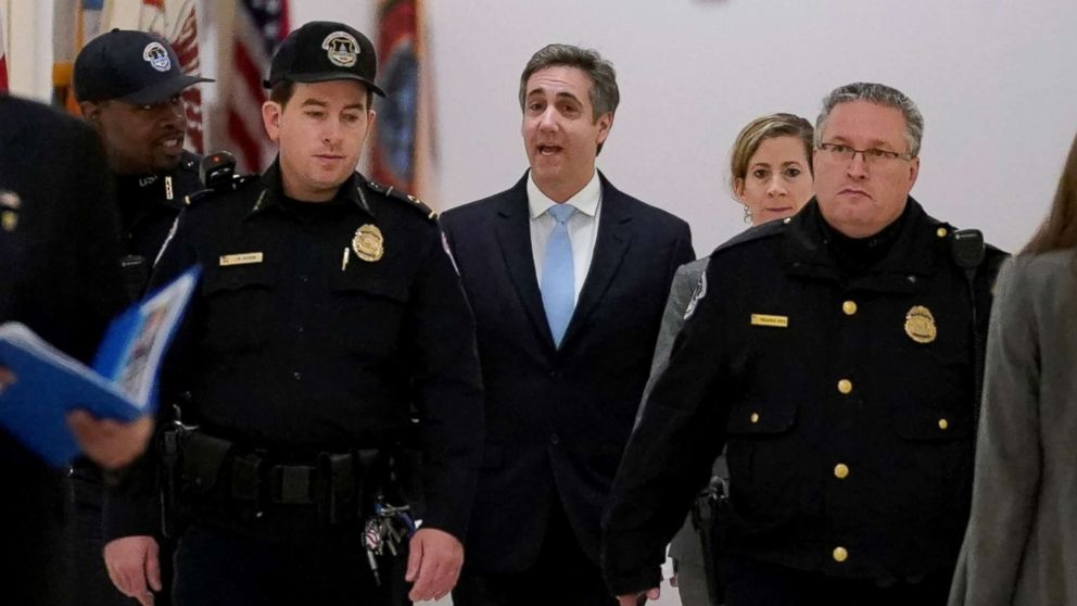 Michael Cohen, the former personal attorney of President Donald Trump, arrives to testify  before a House Committee on Oversight and Reform hearing on Capitol Hill in Washington, D.C., Feb. 27, 2019.