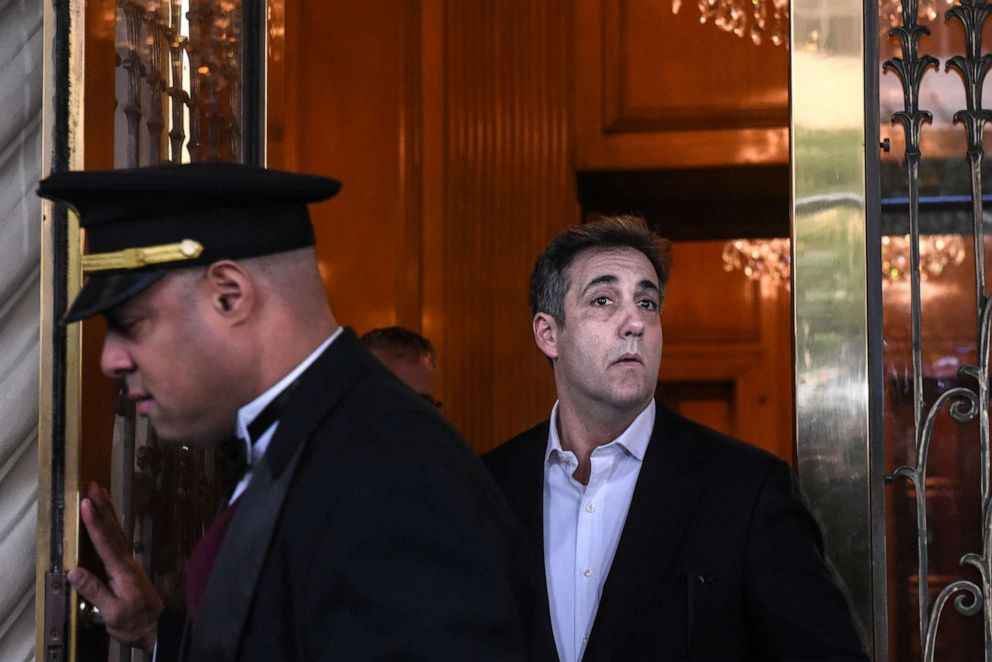 PHOTO: Michael Cohen, former personal lawyer to President Donald Trump, exits his home in New York, May 6, 2019.
