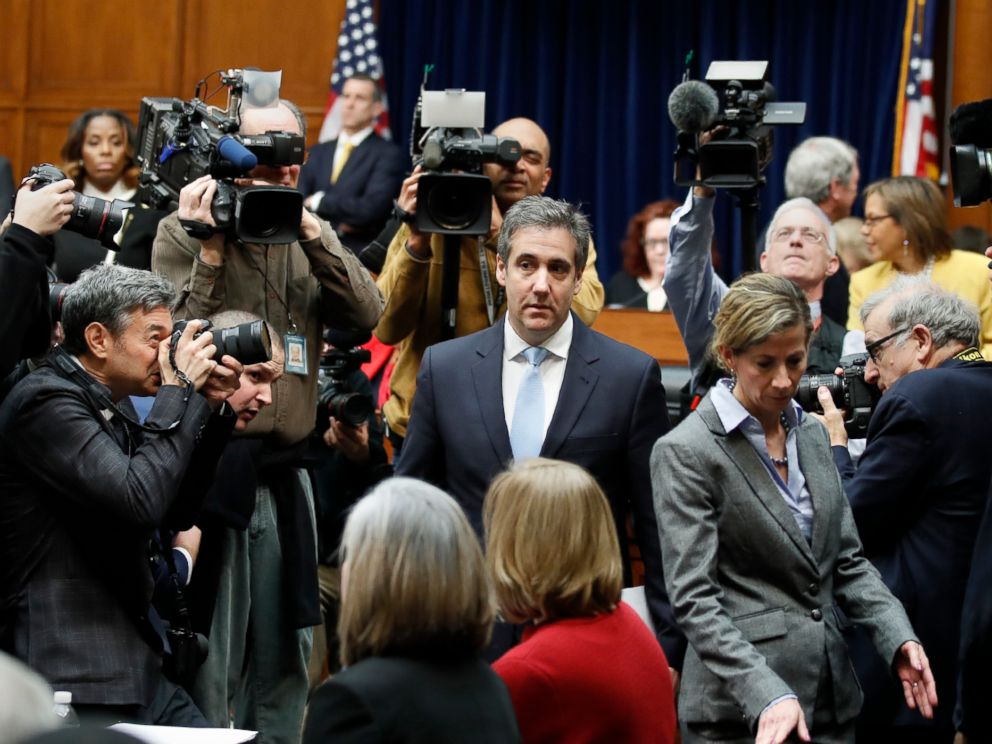 PHOTO: Michael Cohen, President Donald Trumps former personal lawyer, arrives to testify before the House Oversight and Reform Committee on Capitol Hill, Feb. 27, 2019, in Washington, D.C.