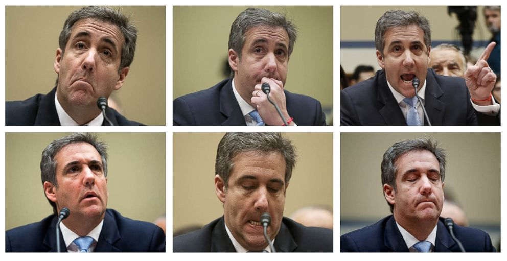 PHOTO: Michael Cohen, President Donald Trumps former lawyer, testifies before the House Oversight and Reform Committee, on Capitol Hill, Feb. 27, 2019, in Washington, D.C.