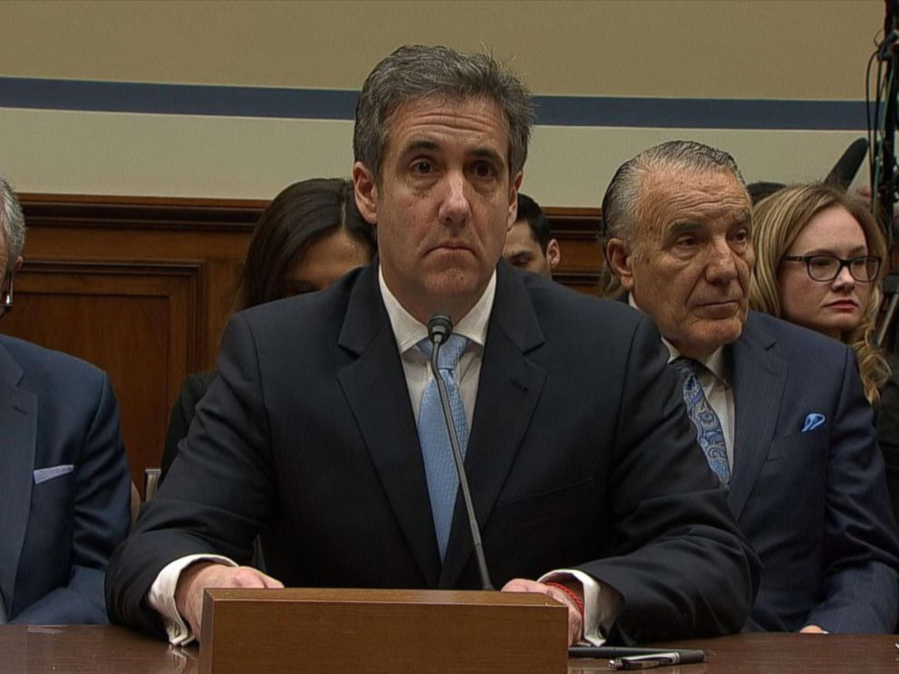 PHOTO: Michael Cohen, the former personal attorney of President Donald Trump, arrives to testify before a House Committee on Oversight and Reform hearing on Capitol Hill in Washington, D.C., Feb. 27, 2019.