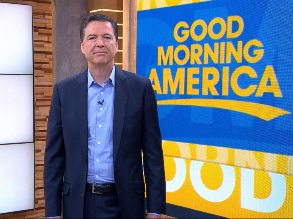 PHOTO: James Comey appears on Good Morning America, April 17, 2018.