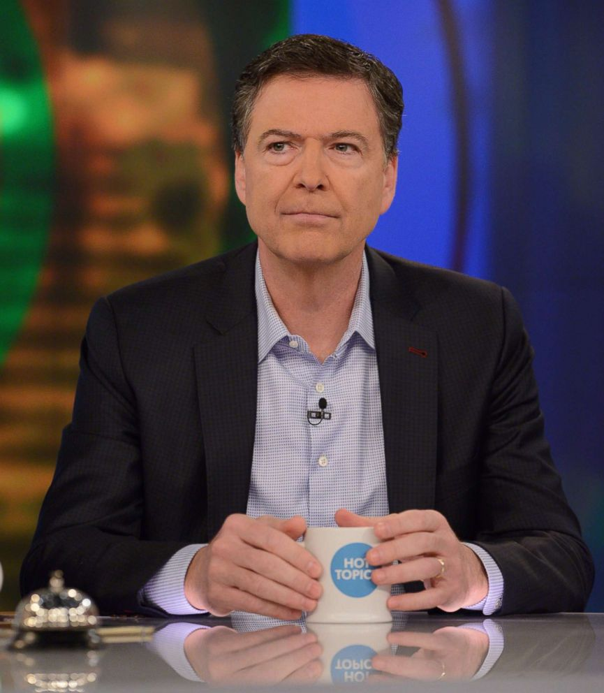 PHOTO: James Comey appears on The View, April 18, 2018.