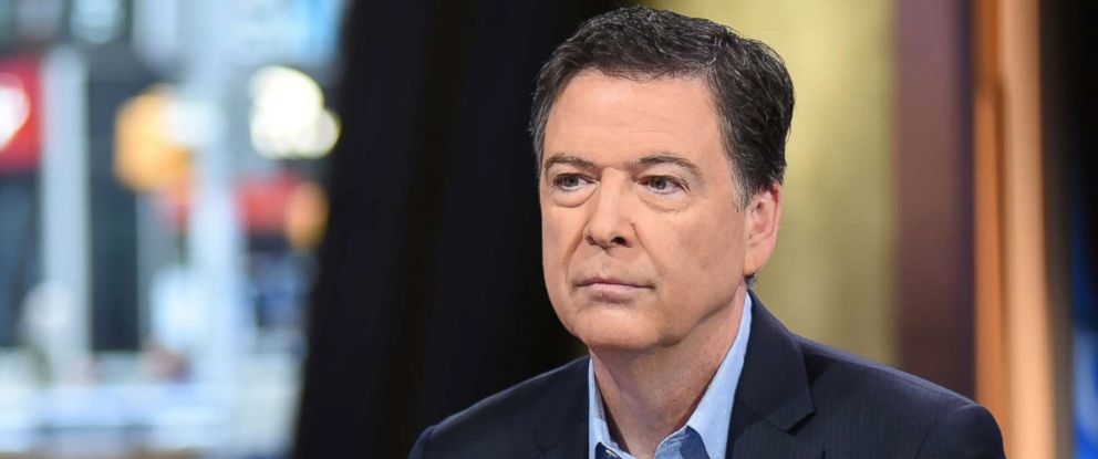 "PHOTO: James Comey appears on ""Good Morning America,"" April 17, 2018."