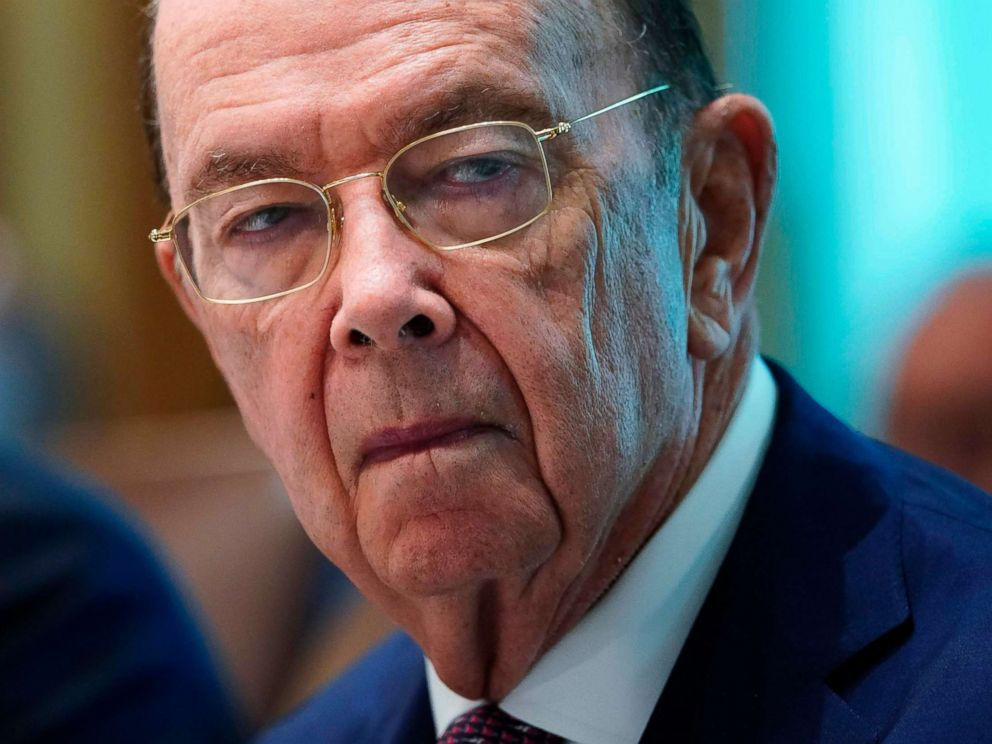 PHOTO: Commerce Secretary Wilbur Ross takes part in a Cabinet meeting in the Cabinet Room of the White House in Washington, Aug. 16, 2018.