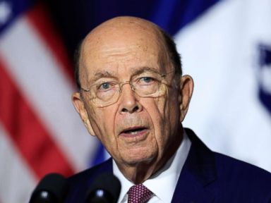 PHOTO: Department of Commerce Secretary Wilbur Ross speaks to employees of the Department of Commerce in Washington, Monday, July 16, 2018.