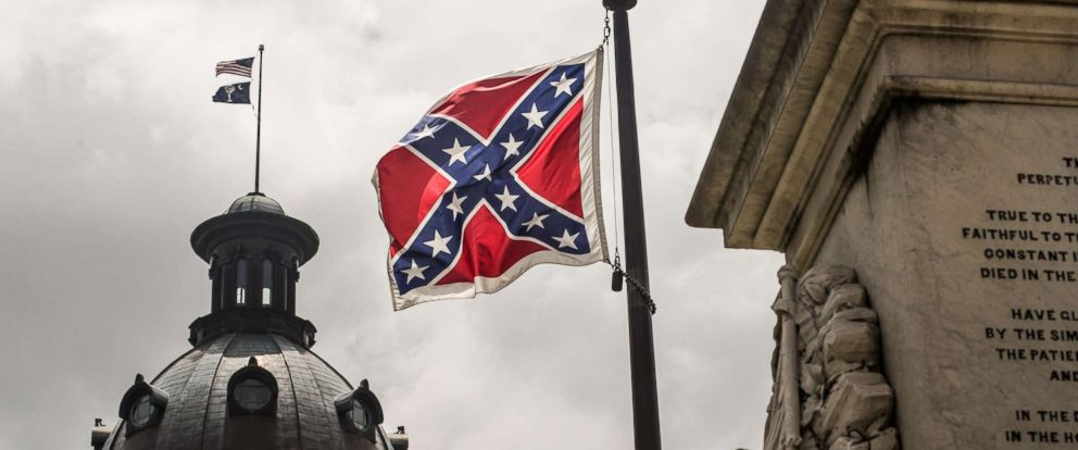 PHOTO: The Confederate flag flies at the South Carolina statehouse, July 8, 2015 in Columbia, S.C.