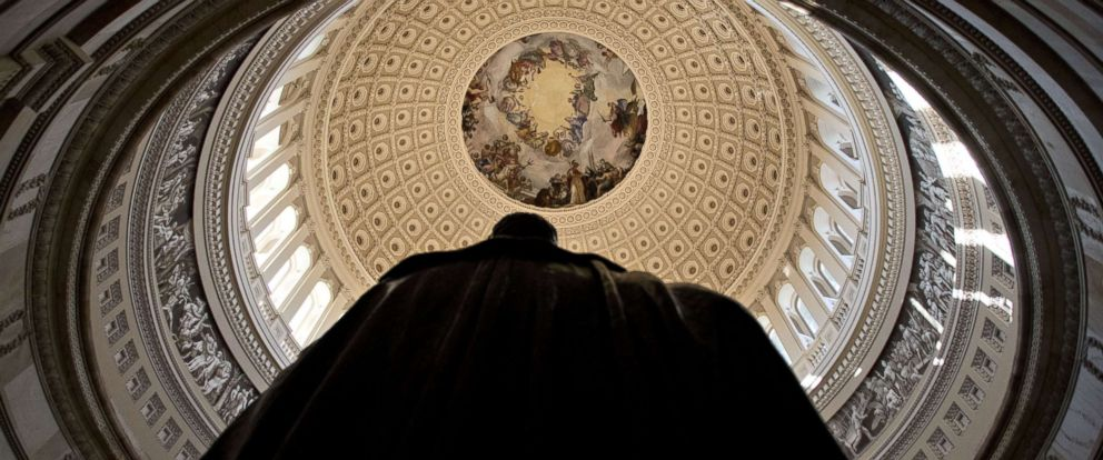 PHOTO: A statue of Andrew Jackson stands in the U.S. Capitol Rotunda in Washington, D.C., Dec. 28, 2017. The Senate returns to work Jan. 3, 2018.