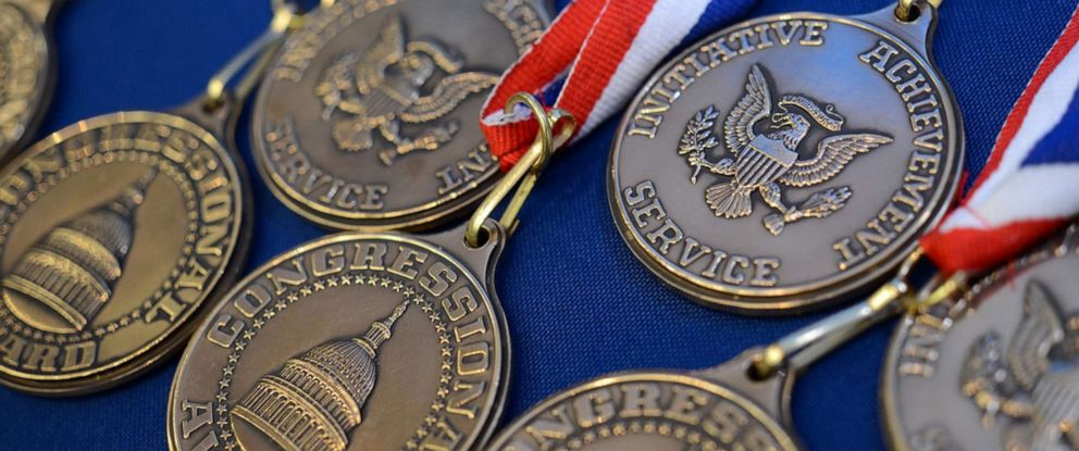 PHOTO: Congressional Award medals are pictured in an undated handout photo.