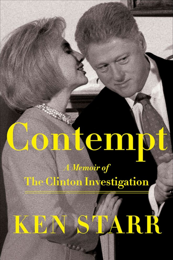 PHOTO: This cover image released by Sentinel shows Contempt: A Memoir of the Clinton Investigation, by Ken Starr, released on Sept. 11, 2018.