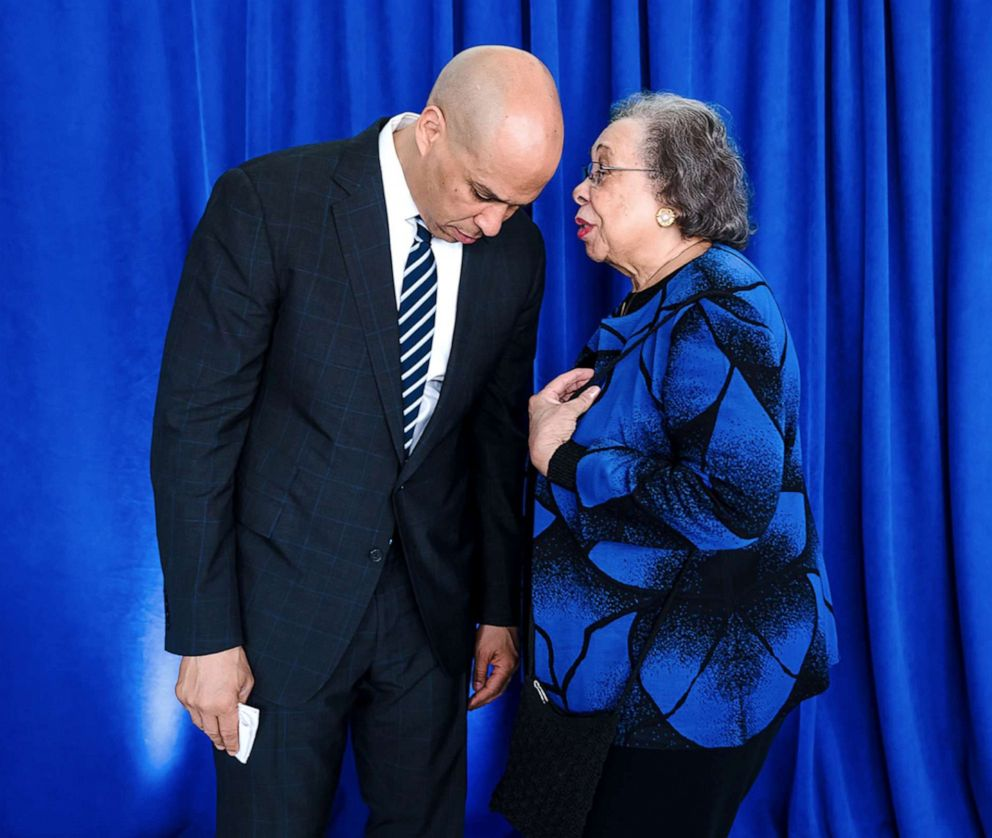 PHOTO: Sen. Cory Booker and his Mom, Carolyn. Undated.