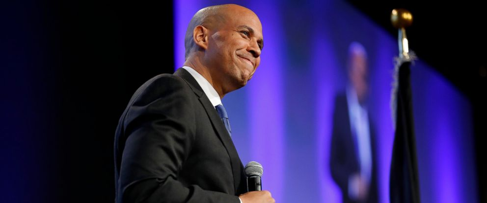 PHOTO: U.S. Sen. Cory Booker, D-N.J., speaks during the Iowa Democratic Partys annual Fall Gala, Saturday, Oct. 6, 2018, in Des Moines, Iowa.