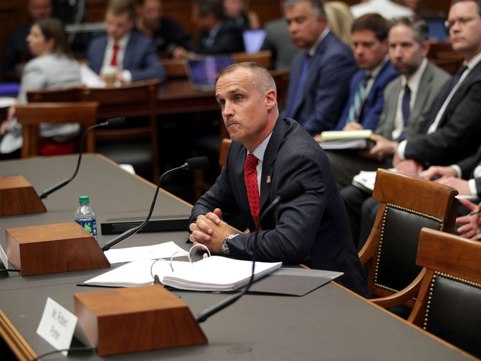 PHOTO: Former Trump campaign manager Corey Lewandowski testifies during a hearing before the House Judiciary Committee in the Rayburn House Office Building on Capitol Hill, Sept. 17, 2019, in Washington, DC.