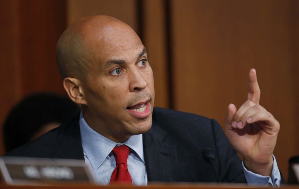 Sen. Cory Booker, D-N.J., speaks before President Donald Trump's Supreme Court nominee, Brett Kavanaugh testifies before the Senate Judiciary Committee on Capitol Hill in Washington, Sept. 6, 2018, for the third day of his confirmation.