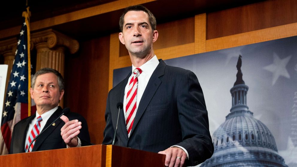 Sen. Tom Cotton bill would prohibit federal funding for teaching The 1619  Project - ABC News