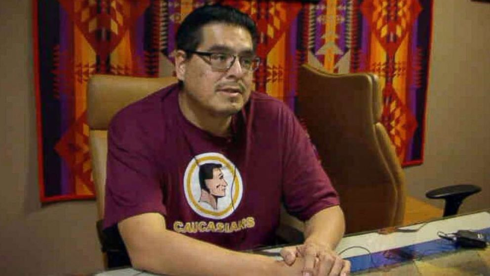 Courtney Yellow Fat talks about North Dakota's voter ID law at Standing Rock Tribal Headquarters in Fort Yates, N.D.