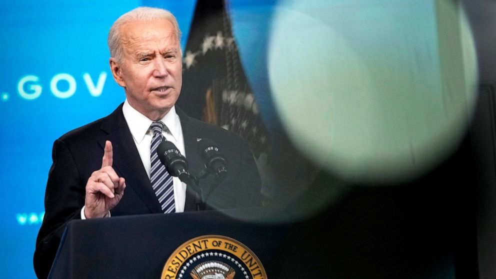 PHOTO: President Joe Biden delivers remarks on the COVID-19 response and the ongoing vaccination program in Washington, May 12, 2021.